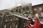 Pożar w kamienicy na Raciborskiej