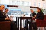 Mirosław Mosór i Wojciech Grzyb w Rozmowach na Wolności w Cafe Coco