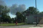 Paliła się hala w Maciejkowicach