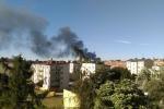 Kłęby dymu nad Chorzowem. Płonie składowisko makulatury